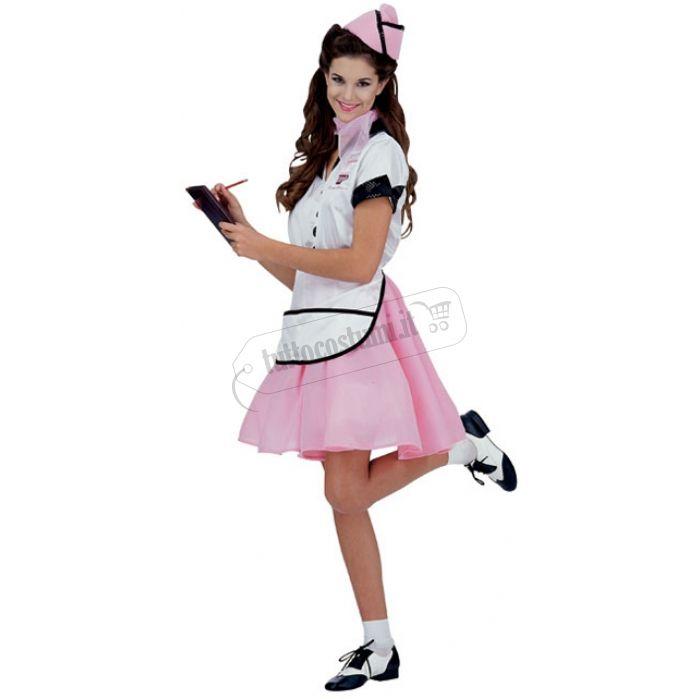 Costume Soda Pop Girl, sbarazzina cameriera in stile Anni 50. Quanto costa?
