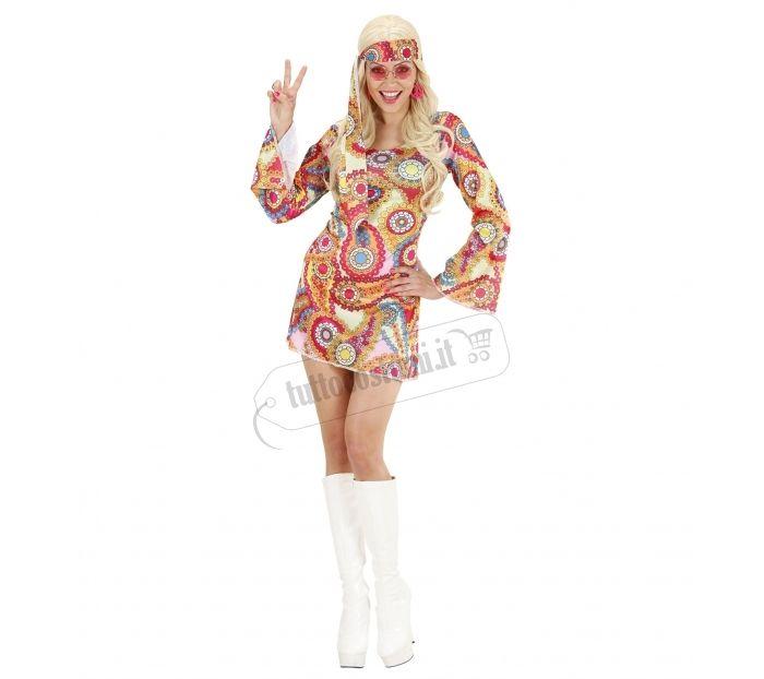 Vestito ragazza hippie anni 60